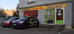 Vue extérieure de l'auto-école à Besançon-Palente (Label Conduite / Personeni Clerc / Perso)