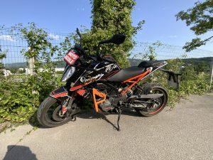 Moto KTM Duke 125 (permis moto A1)